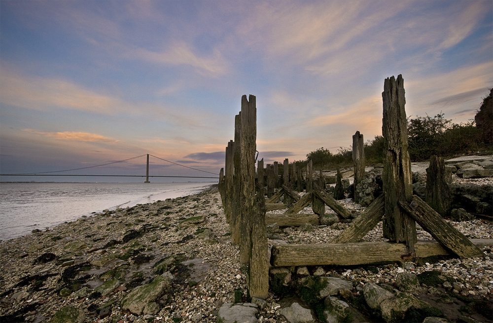 photoblog image evening by the Humber