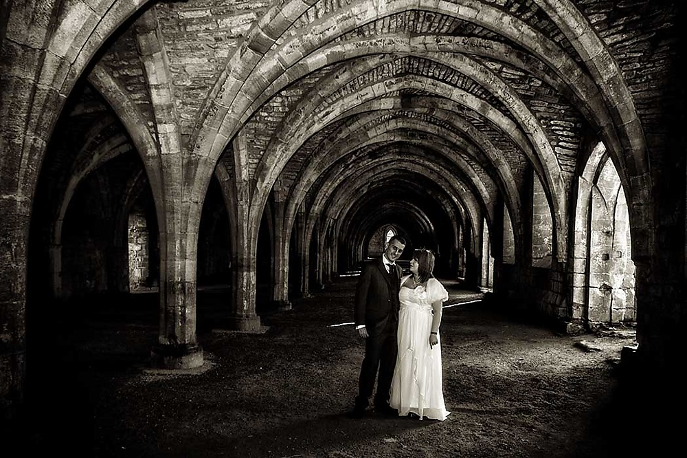 photoblog image Fountains Abbey wedding
