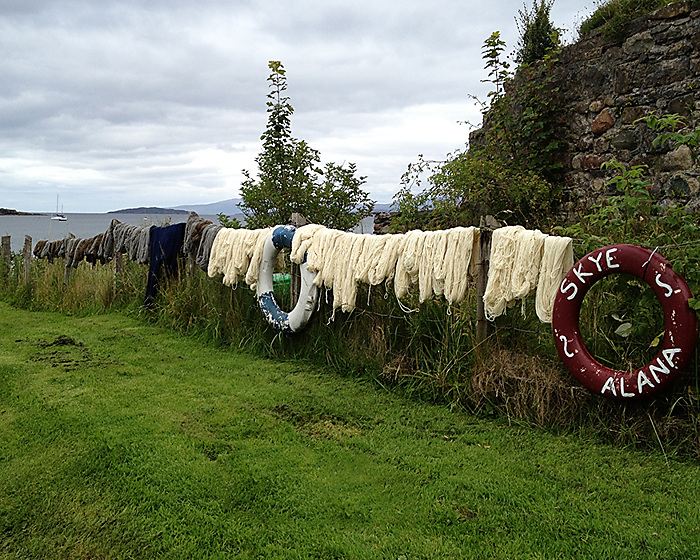 hanging out the wool on Skye